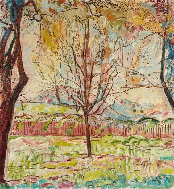 Cuno Amiet (Swiss, 1868-1961), L'Automne, 1918. Oil on canvas, 98 x 91 cm.