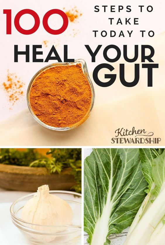 100 steps to take today to heal your gut - you can make little changes to prepare for a major detox or cleanse or gut healing protocol!