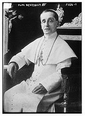 Pope Benedict XV (Latin: Benedictus PP. XV, Italian: Benedetto XV; 21 November 1854 – 22 January 1922), born Giacomo Paolo Giovanni Battista della Chiesa, reigned as Pope from 3 September 1914 to 22 January 1922. His pontificate was largely overshadowed by World War I and its political, social and humanitarian consequences in Europe.
