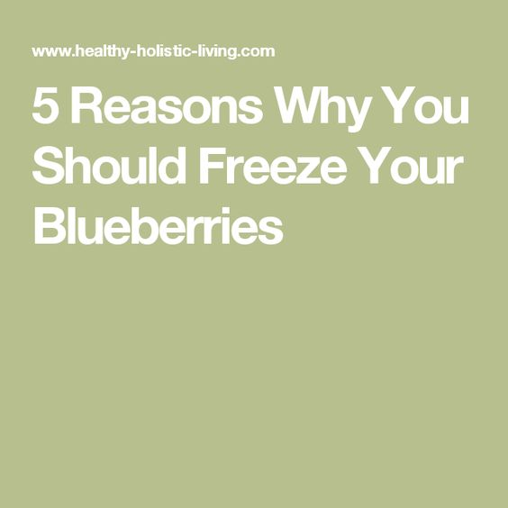 5 Reasons Why You Should Freeze Your Blueberries