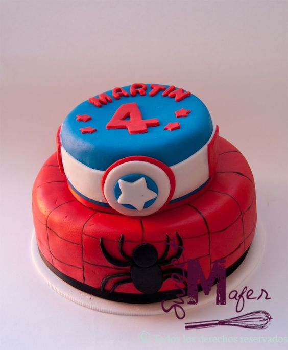 torta-superheroes-spiderman-y-capitan-america