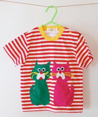 tonton cat×cat Tシャツ(こちらは赤白ボーダーのみ)2匹のネコネコTシャツです。猫も楽しさも2倍!-----------------...|ハンドメイド、手作り、手仕事品の通販・販売・購入ならCreema。