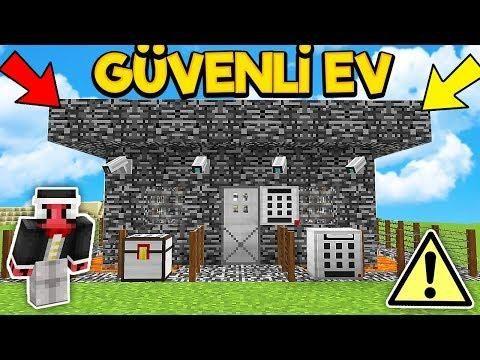 Mi̇necraft Ta Güvenli̇ Ev Nasil Yapilir Güvenlik Modu Minecraft Evler Tanca