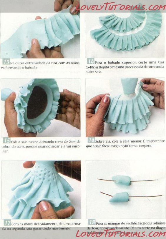 ??? ????-How to Make a sitting Fondant Fairy - ?????? ...