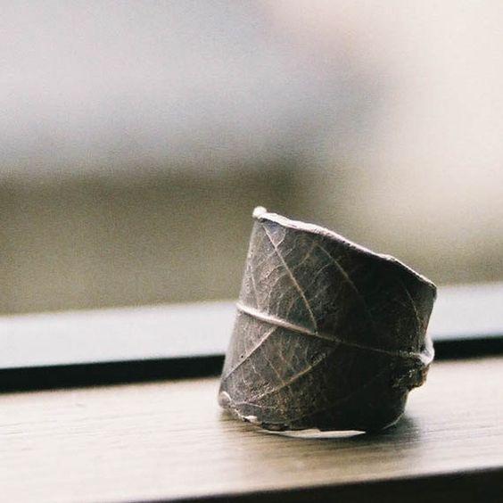 Leaf Ring by TadashiKoizumi on Etsy, $80.00