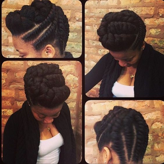 flat twists natural hair do