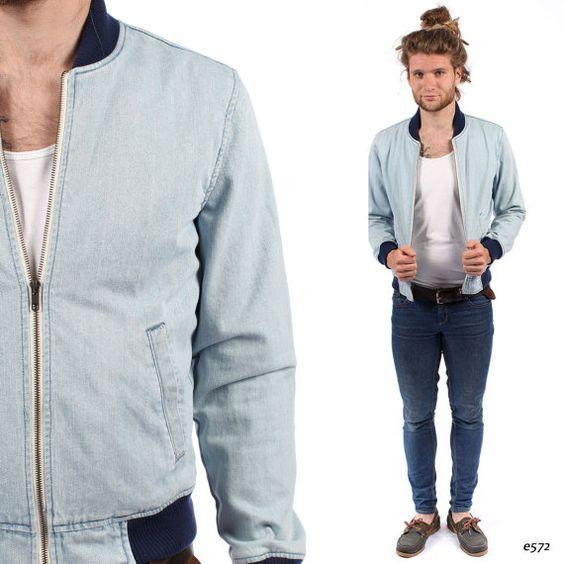 Blue jean bomber jacket – Modern fashion jacket photo blog