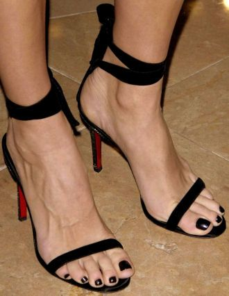 so sexy Louboutin stappy heels | Cooking Up Love | Pinterest