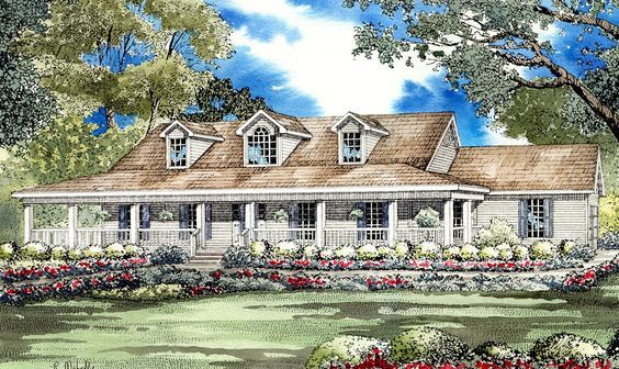 Low Country Home Plan 59298nd Architectural Designs House Plans Country House Plans Low Country Homes Country Style House Plans