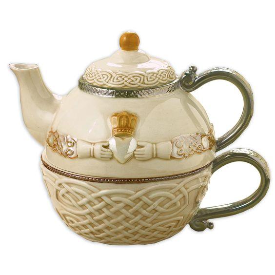 Irish Claddagh Tea for One