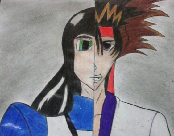 Alice Madness e Sanozuke Sagara.  feito por Victor Moura!!!! Animes, Mangás, e outras coisas mais!!!!