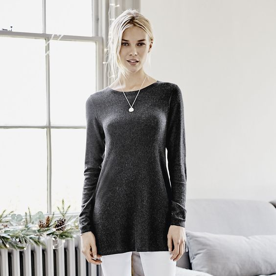 Tuck Stitch Swing Jumper | The White Company
