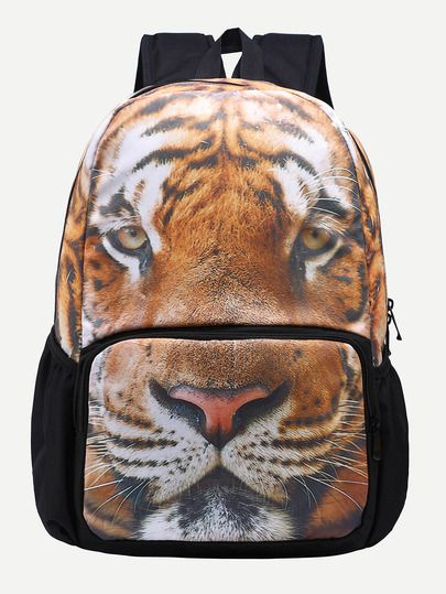 tiger backpack Brown