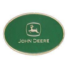 Montana Silversmiths A287JDG .John Deere Green Small Oval Attitude Buckle #JohnDeere#MontanaSilversmiths