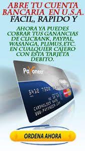 Tarjeta de Débito Mastercard Cualquier persona, puede abrir una cuenta en Payoneer y tendrá disponible una Cuenta Bancaria en USA, con todo lo que ...