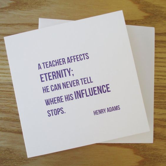 Teacher Thank You   Quote Card TY01 by wordswithoutpictures