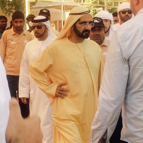 2/14/15 President's Cup Endurance Race PHOTO:  shabina20 with Sheikh Mohammed with Sultan41, Zayed bin Maktoum, Suhail bin Ghadayer