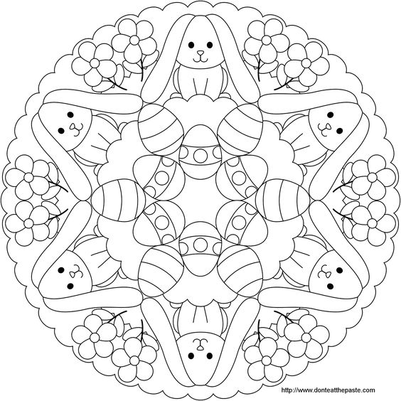 Easter Coloring Pages Advanced : Cool free printable easter coloring pages for kids who