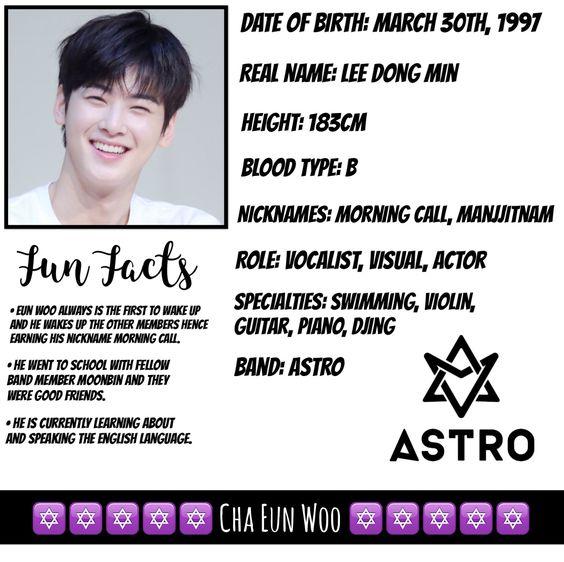 Cha Eun Woo Profile