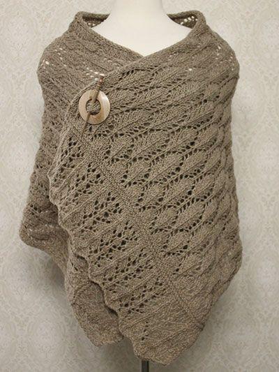 Free knitting pattern for Rafael Knit Shawl with lace