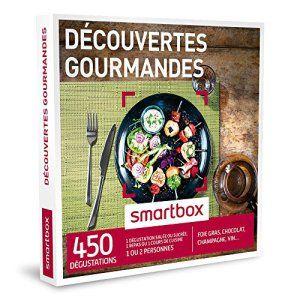 SMARTBOX – Coffret Cadeau – DÉCOUVERTES GOURMANDES – 450 dégustations : foie gras, chocolat, champagne, vin