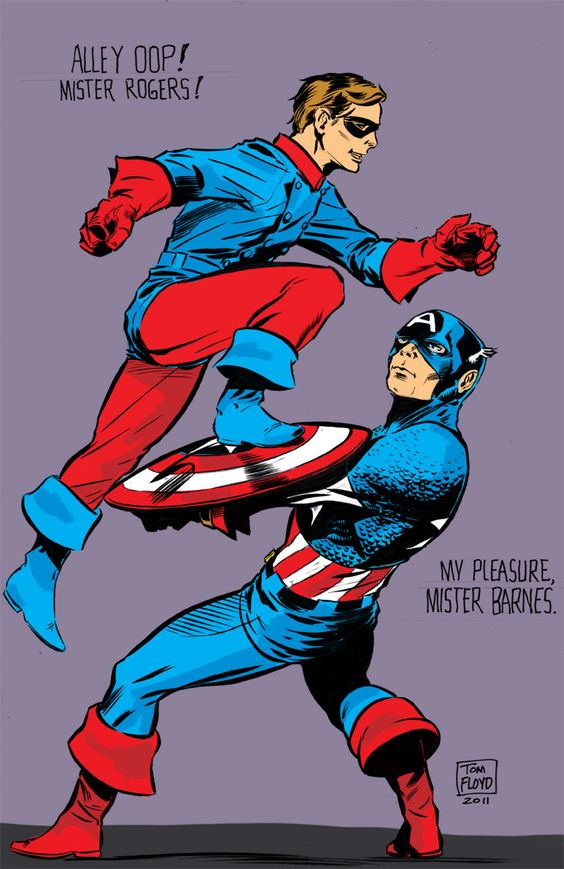 Cap and Bucky by Tom Floyd