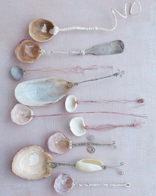 seashell spoons tutorial (http://www.sweetpaulmag.com/crafts/seashell-spoons)   diy + crafts