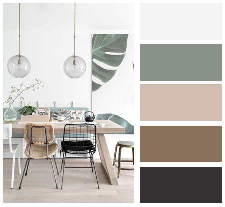 Dining room, interior color, color palette #livingroomcolorschemeideas Dining room, interior color, color palette