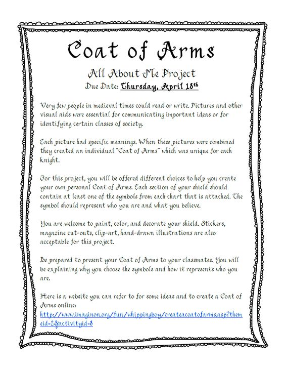 Printables Coat Of Arms Worksheet coat of arms project pdf google drive instructions for project