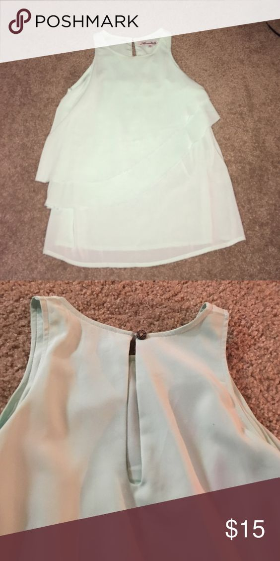 Mint blouse Mint tank blouse with keyhole back Tops Blouses