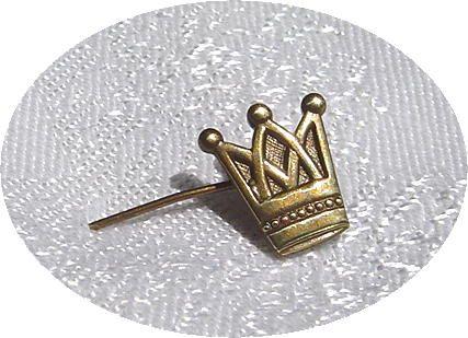 Victorian Era Crown Stick Pin