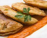 Empanadillas de setas y bacalao ahumado: Mushroom, Empanadilla Setas, Dumpling, Empanadillas Rellenas, Dumplings, Bacalao Ahumado, Cod, Recipe Of
