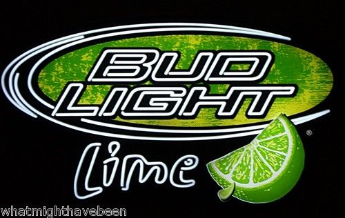 AUTHENTIC BUD LIGHT LIME BEER OPTI NEON SIGN BUDWEISER