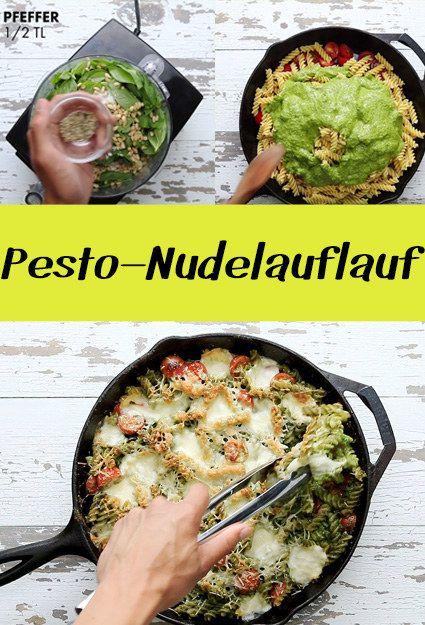 Dieser Pesto-Nudelauflauf ist perfekt für ein schnelles Abendessen