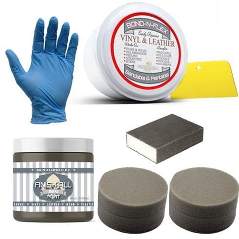 Bond N Flex Kit Contains Bond N Flex Brush Choice Finish All Paint Leather Repair Heirloom Traditions Paint Vinyl Repair