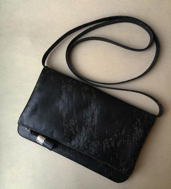Embossed black calf exclusive leather#customatelierstloup