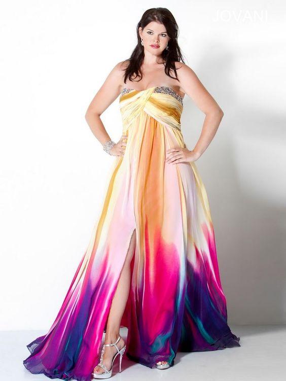 Multi Colored Prom Dresses - girls fashion - Pinterest - The o ...