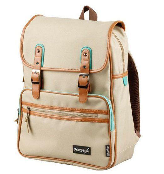 Amazon.com: kmbuy - Unique vintage Korean style Unisex Casual Fashion School Travel Backpack Bags with Laptop Lining (40cm*30cm*12cm) (Khaki...
