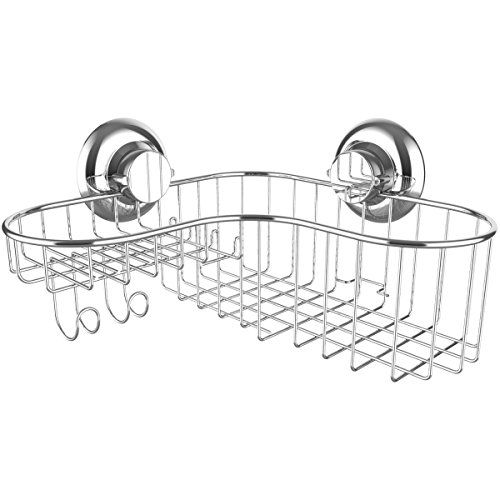 Shower Caddy Suction Cup Corner Combo Powerful Vacuum System