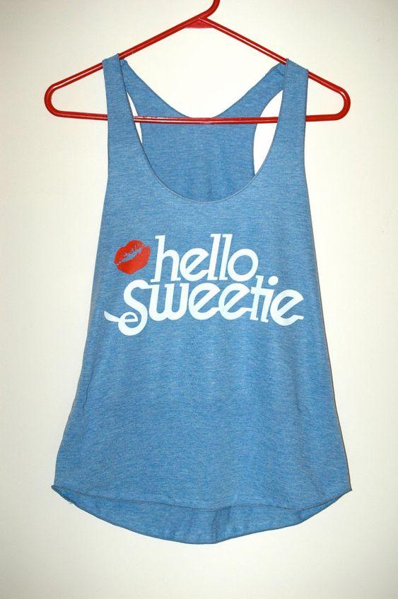 | Hello Sweetie Racerback Top |