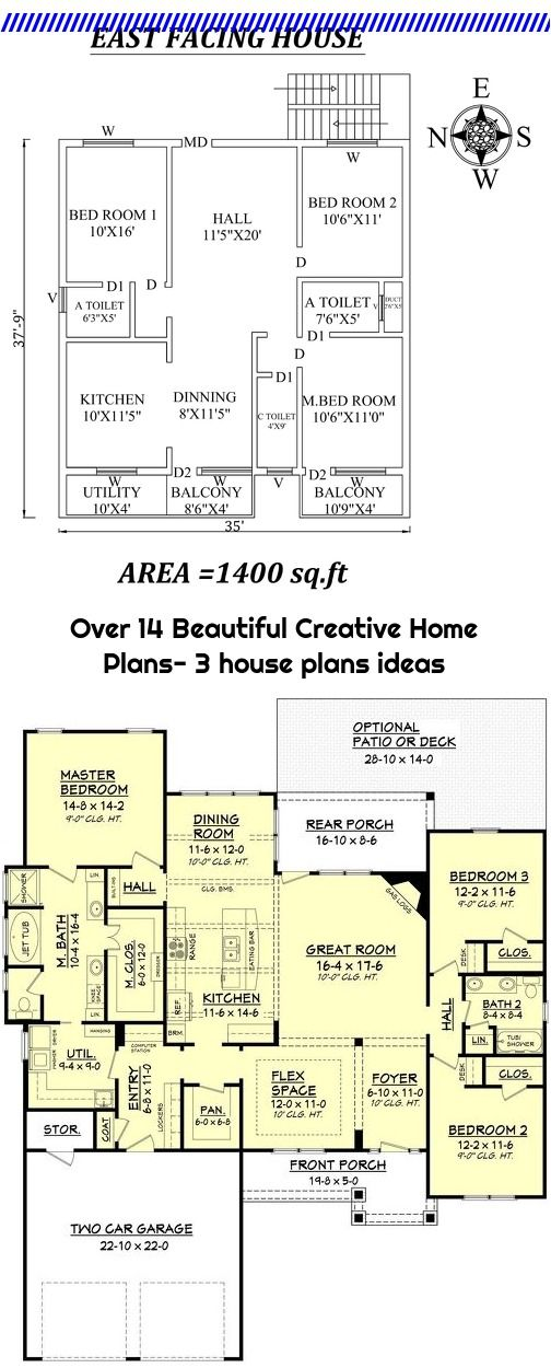 Over 14 Beautiful Creative Home Plans 3 House Plans Ideas House Plans Craftsman Style House Plans Creative Home