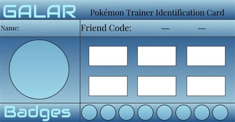 Pokemon Trainer Card Template Professional Design Template In 2020 Pokemon Trainer Card Card Template Pokemon Trainer