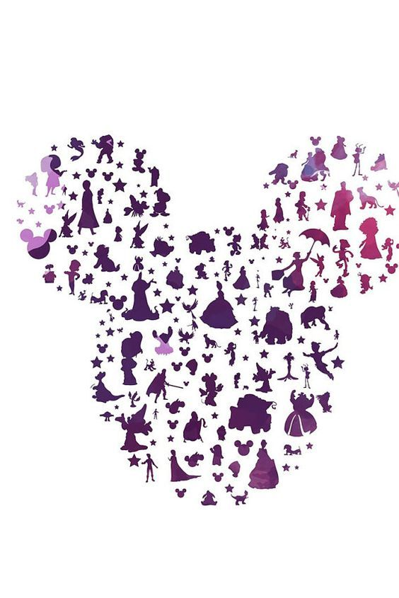 New Disney Character Mickey Ears Watercolor Instant Download