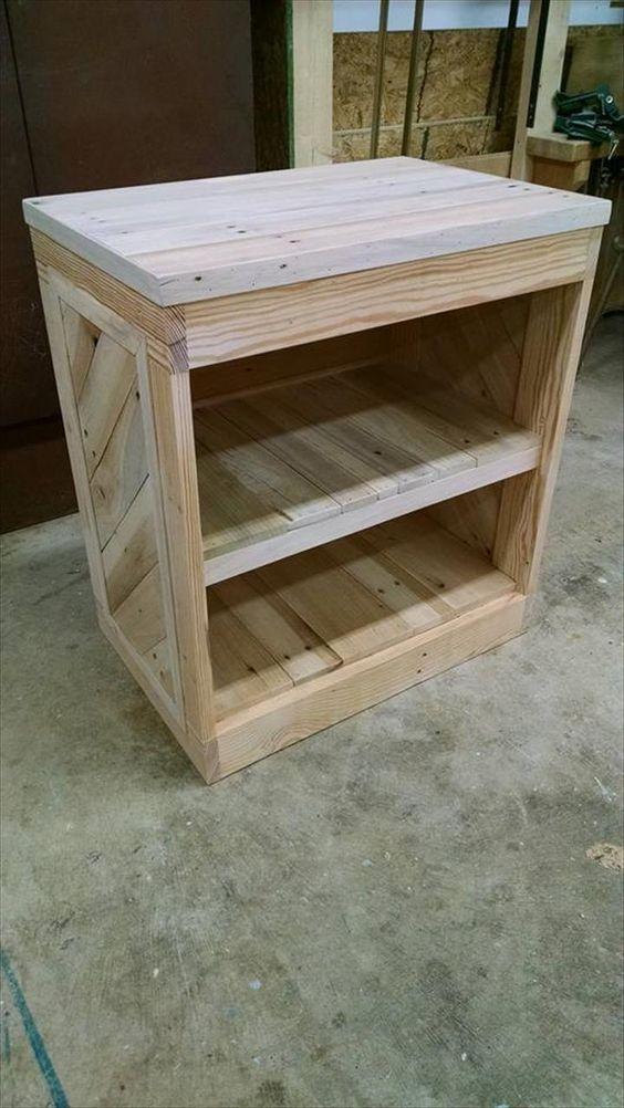 DIY Pallet Nightstand Or Side Table Furniture Side