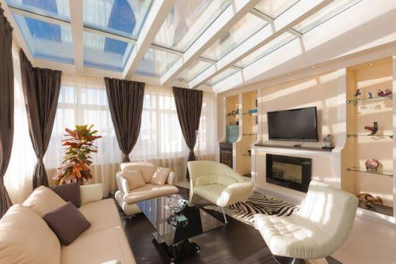 Familienzimmer mit spektakulären Oberlichter.