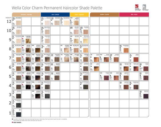 color charm toner chart: Best 25 wella color charm chart ideas on pinterest wella color