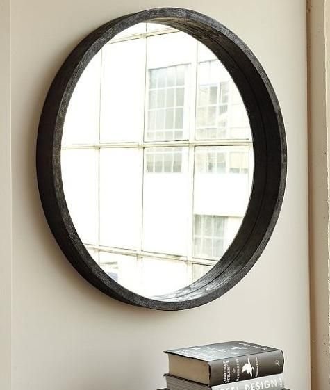 Accessories round mirror from west elm large round for Circle mirror