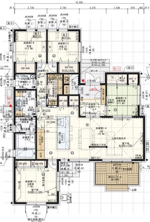 間取り図決定 最終版33 3坪 間取り図 間取り 平屋 間取り 40坪