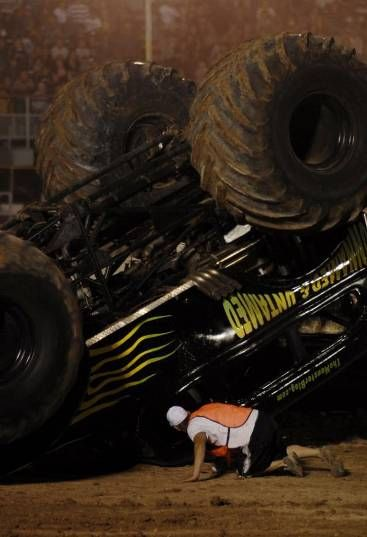 Tournament of Destruction monster truck roll over crash flip arizona, tucson az event