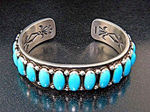 Native American Sterling Silver Sleeping Beauty Cuff
